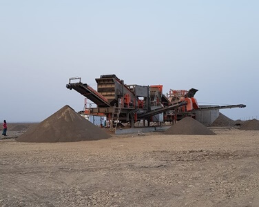 SULTANATE OF OMAN  |  JS-2 – 150 tph Capacity Mobile Crushing & Screening Plant