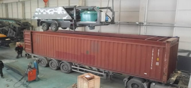 CONSTMACH MOBICOM 30 site type mobile concrete plant is shipped for our customer in Senegal.