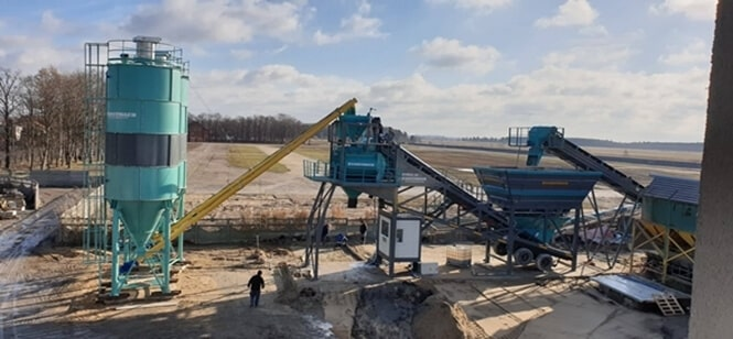 CONSTMACH MOBILE 100 mobile concrete plant is taken into operation for our customer in Poland.